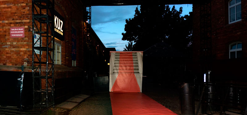The Red Carpet installation at the KUZ Mainz